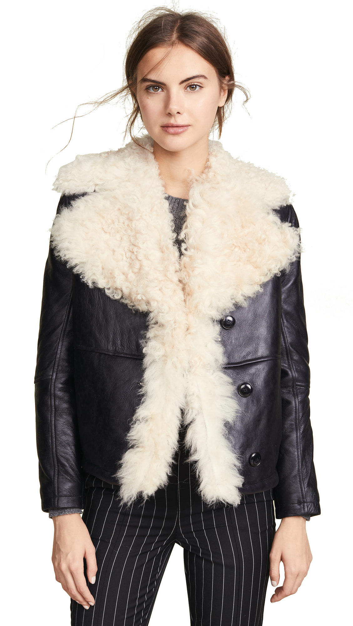 Shearling and Leather Coat