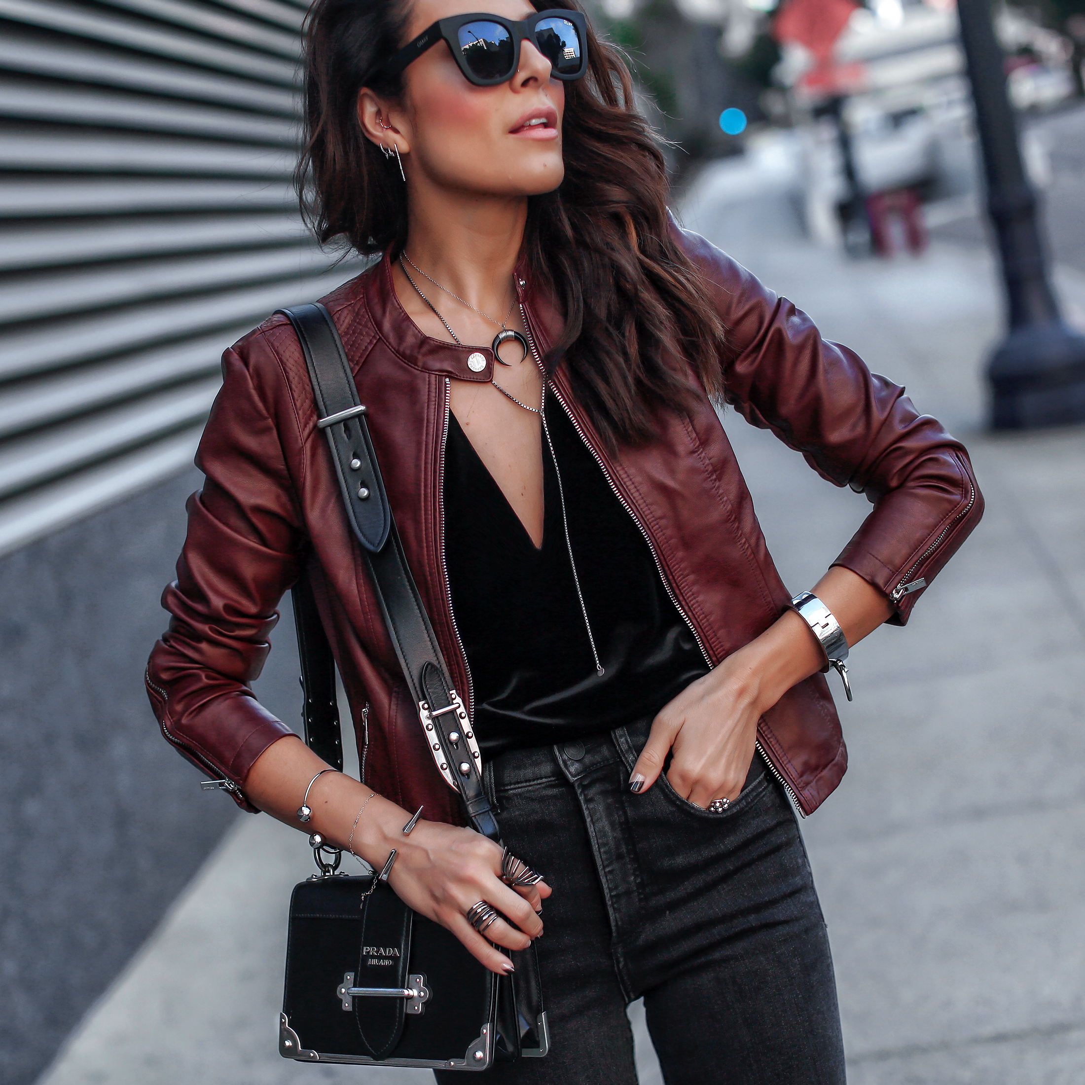 Express Leather Moto Jacket Prada Cahier Bag.jpg