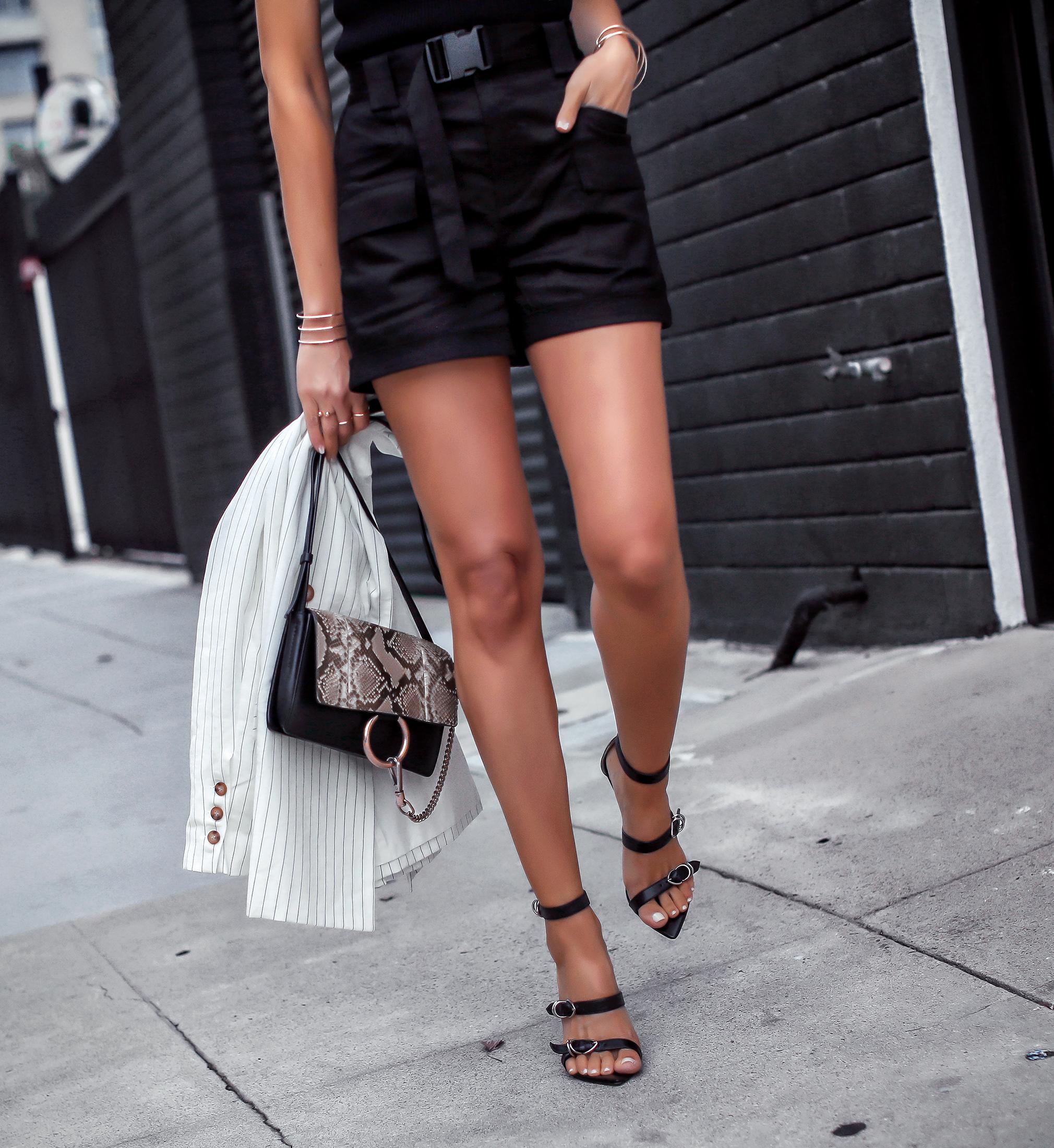 Woman Walking in Tony Bianco Stilletos Chloe Nile Bag