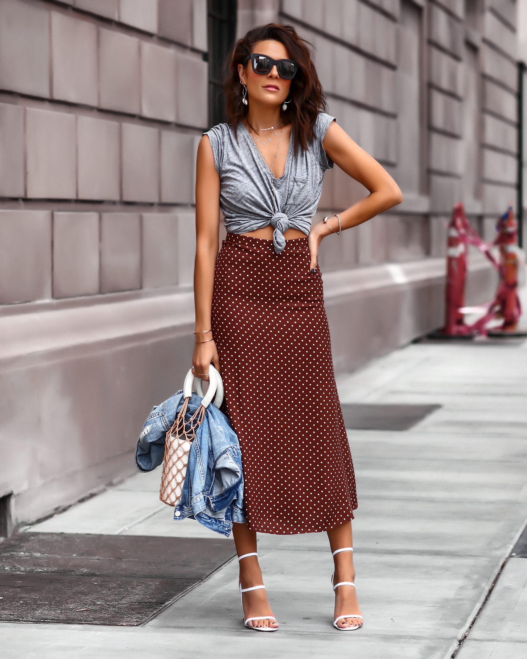 Brunette Woman in Nordstrom Summer Fashion