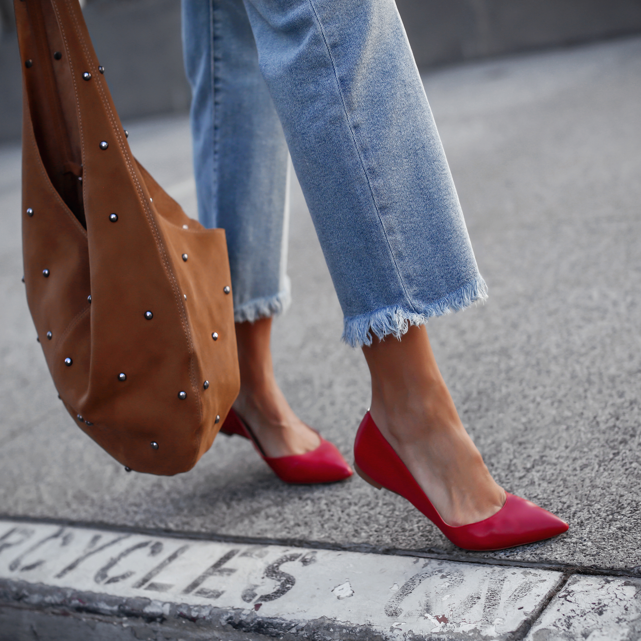 Sam Edelman Denim and Red Flats.jpg