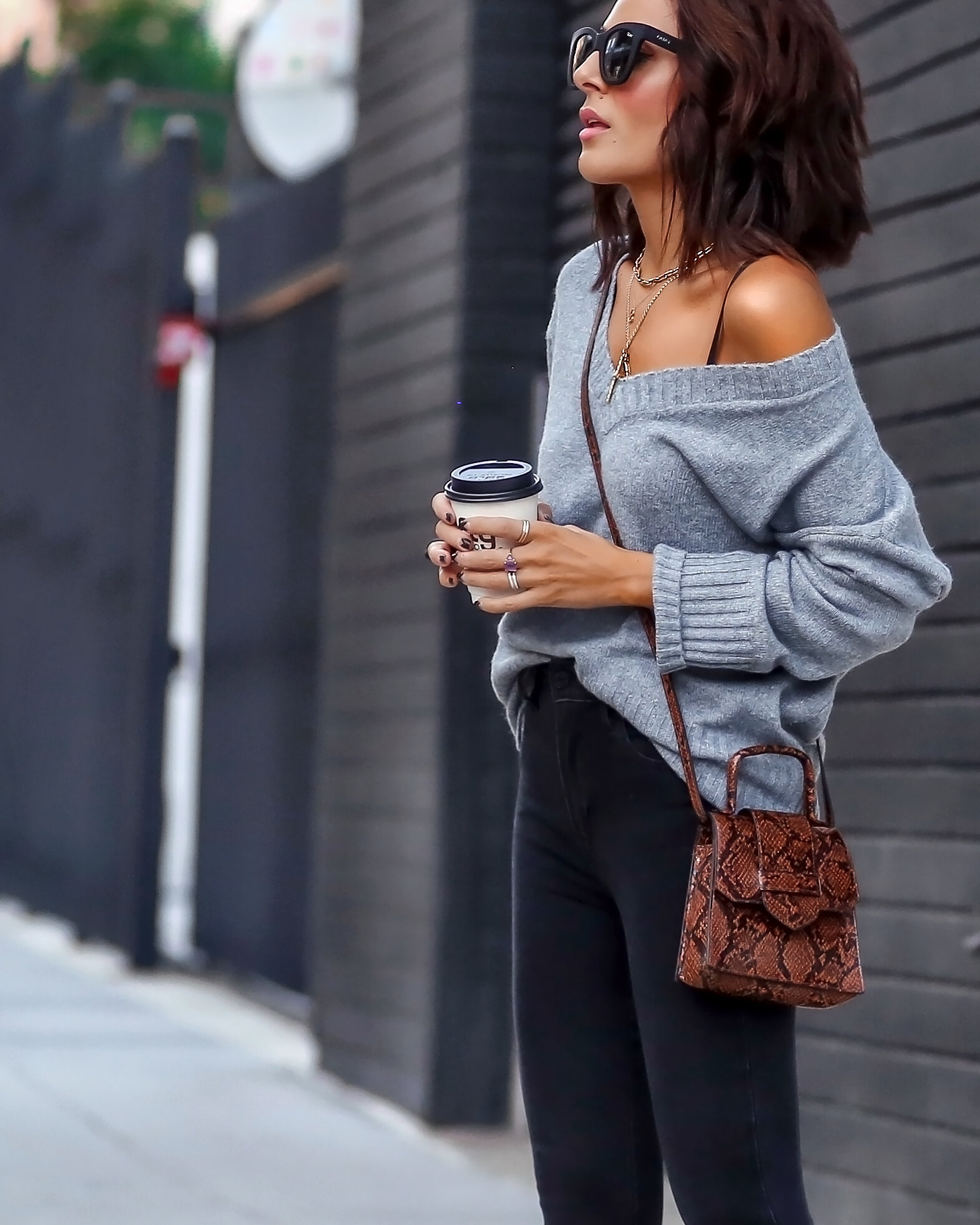 Brunette Woman Styling Affordable Fall Fashion