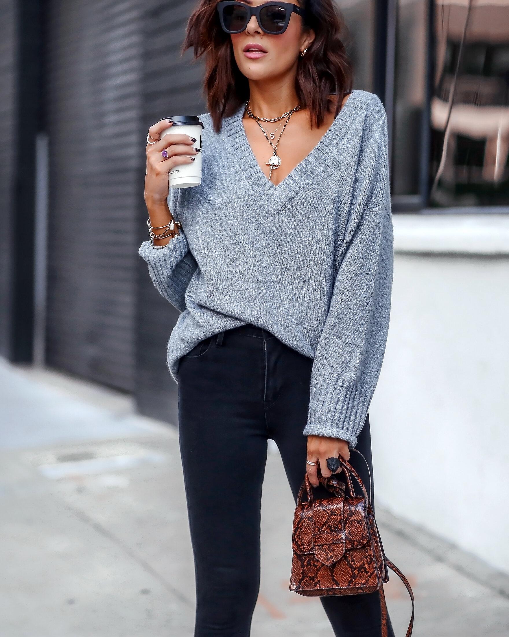 Brunette Woman Styling Fall Fashion