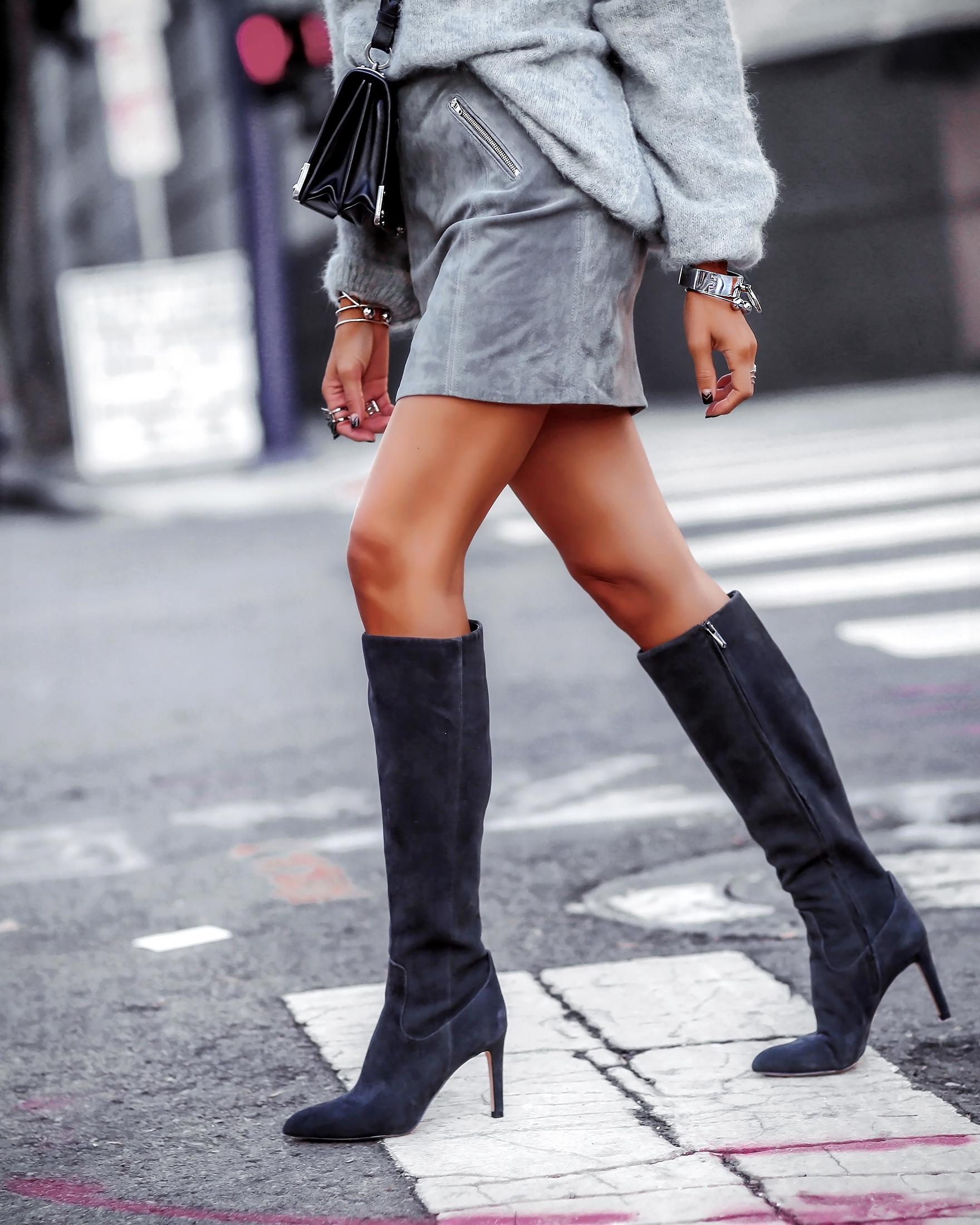 Detail Shot Fall Fashion Knee High Boots