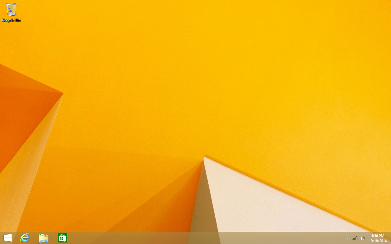 Our blank canvas: a fresh Windows 8.1 install