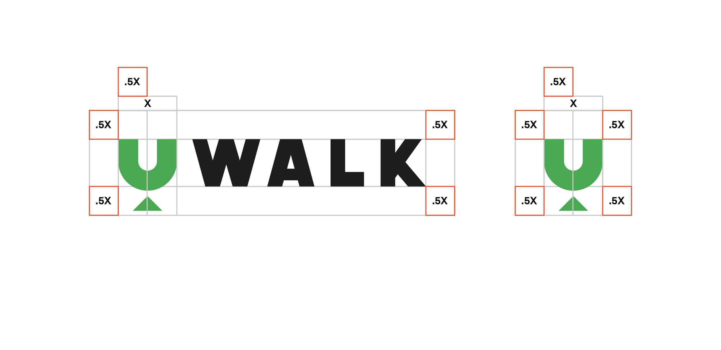 Clear Space   The Uwalk logo should always be surrounded by a minimum area of clear space. No other visual elements may enter the clear space. Care should be taken whenever laying the logo over a colour, background or image.