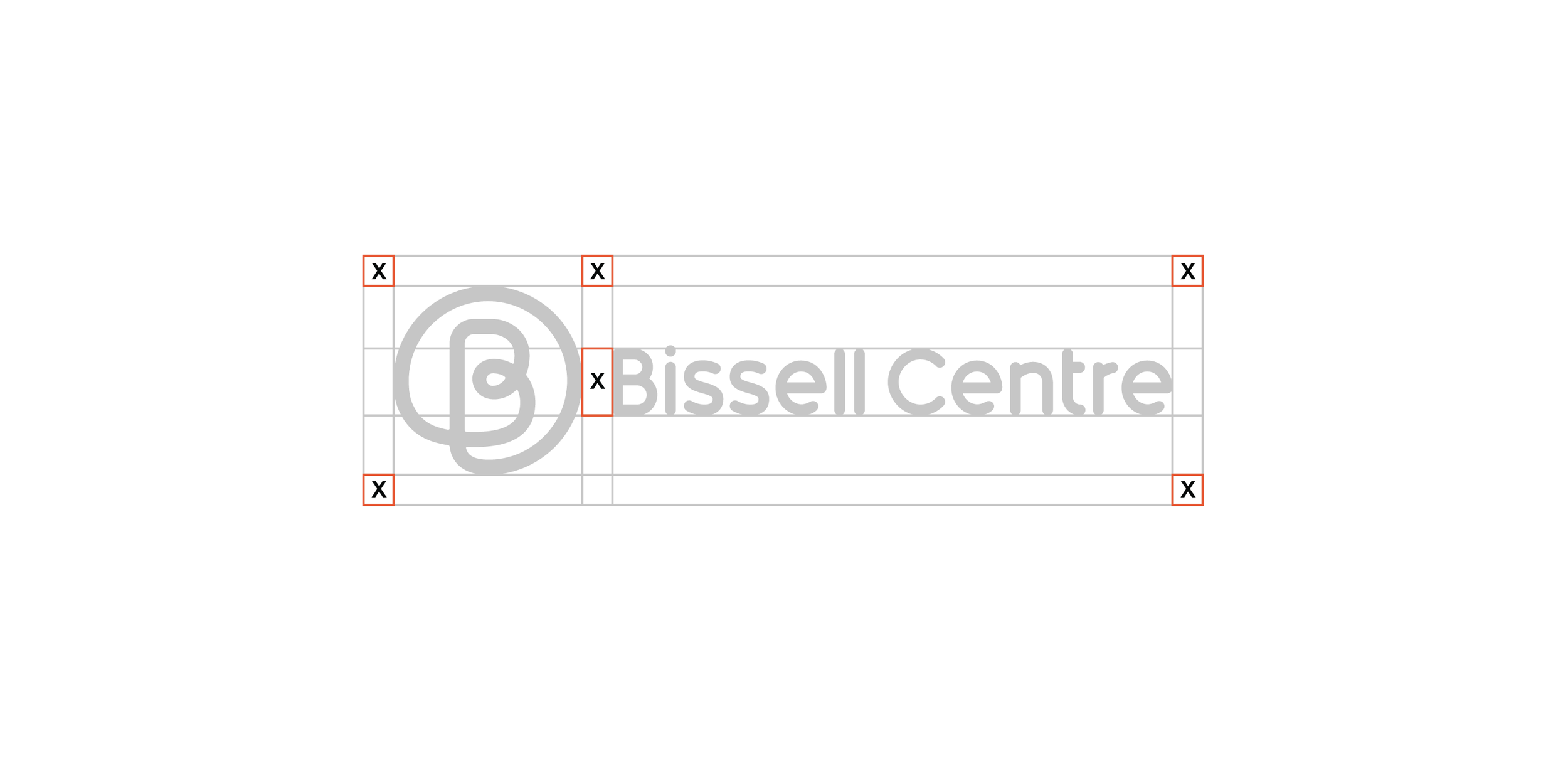 Clear Space  The Bissell Centre logo should always be surrounded by a minimum area of clear space. No other visual elements may enter the clear space. Care should be taken whenever laying the logo over a colour, background or image.