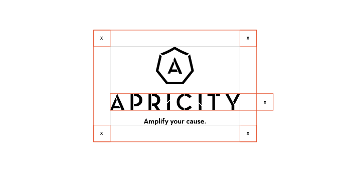 Clear Space  The Apricity logo should always be surrounded by a minimum area of clear space. No other visual elements may enter the clear space. Care should be taken whenever laying the logo over a colour, background or image.
