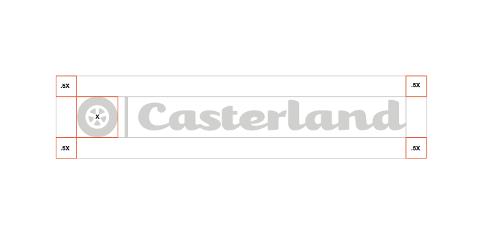 Clear Space   The Castertown logo should always be surrounded by a minimum area of clear space. No other visual elements may enter the clear space. Care should be taken whenever laying the logo over a colour, background or image.
