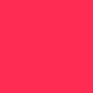Pink  HEX: #fe2c53 RGB: 254, 44, 83 CMYK: 0, 94, 61, 0