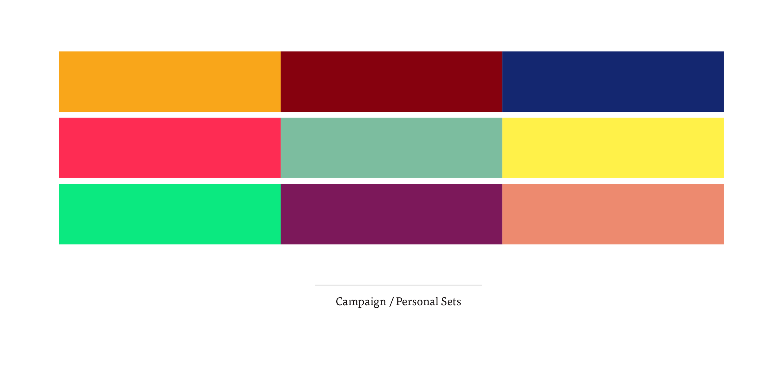 Secondary Campaign Palette -  see detailed colour breakdown here