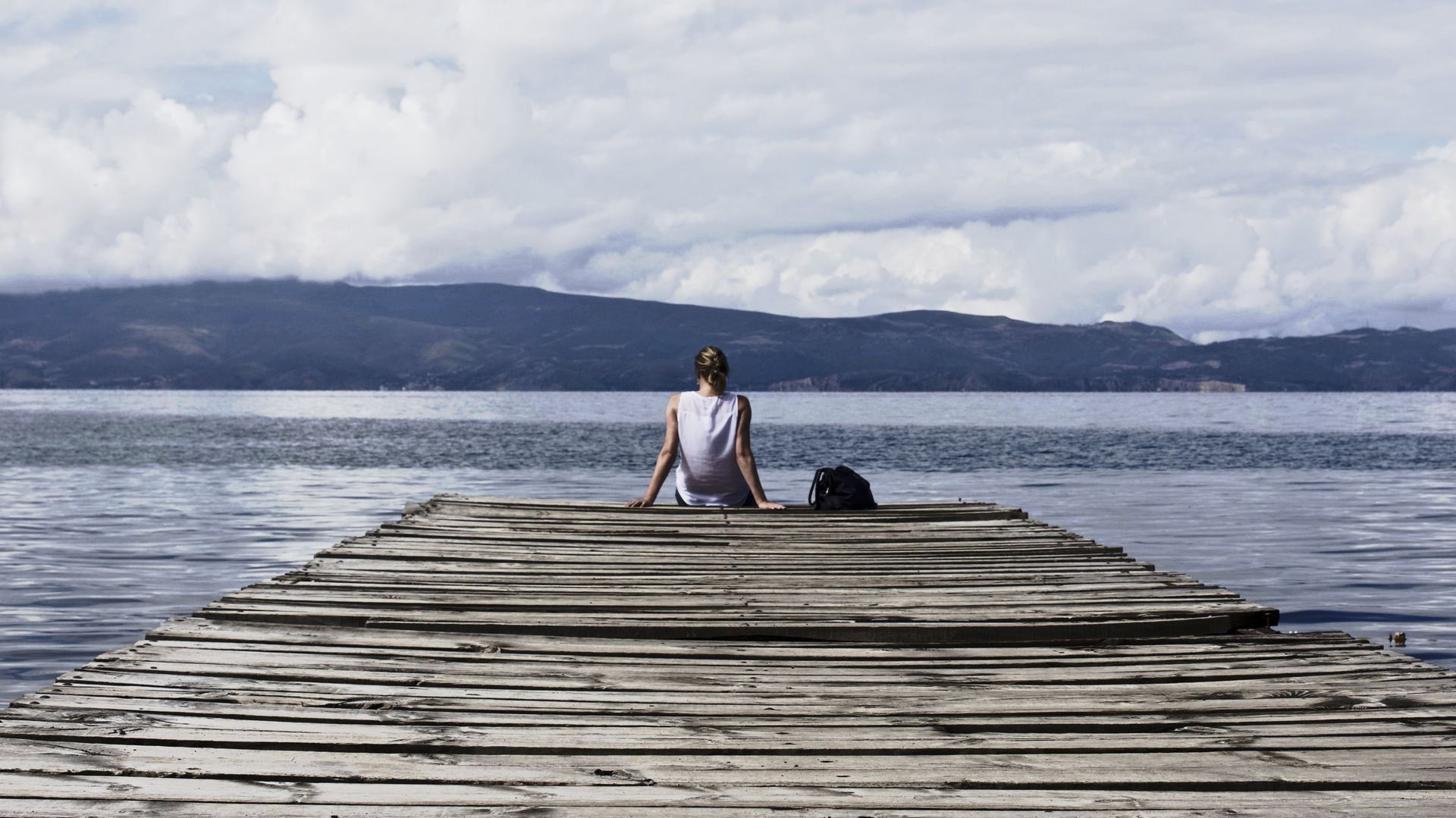 Woman on dock -  download