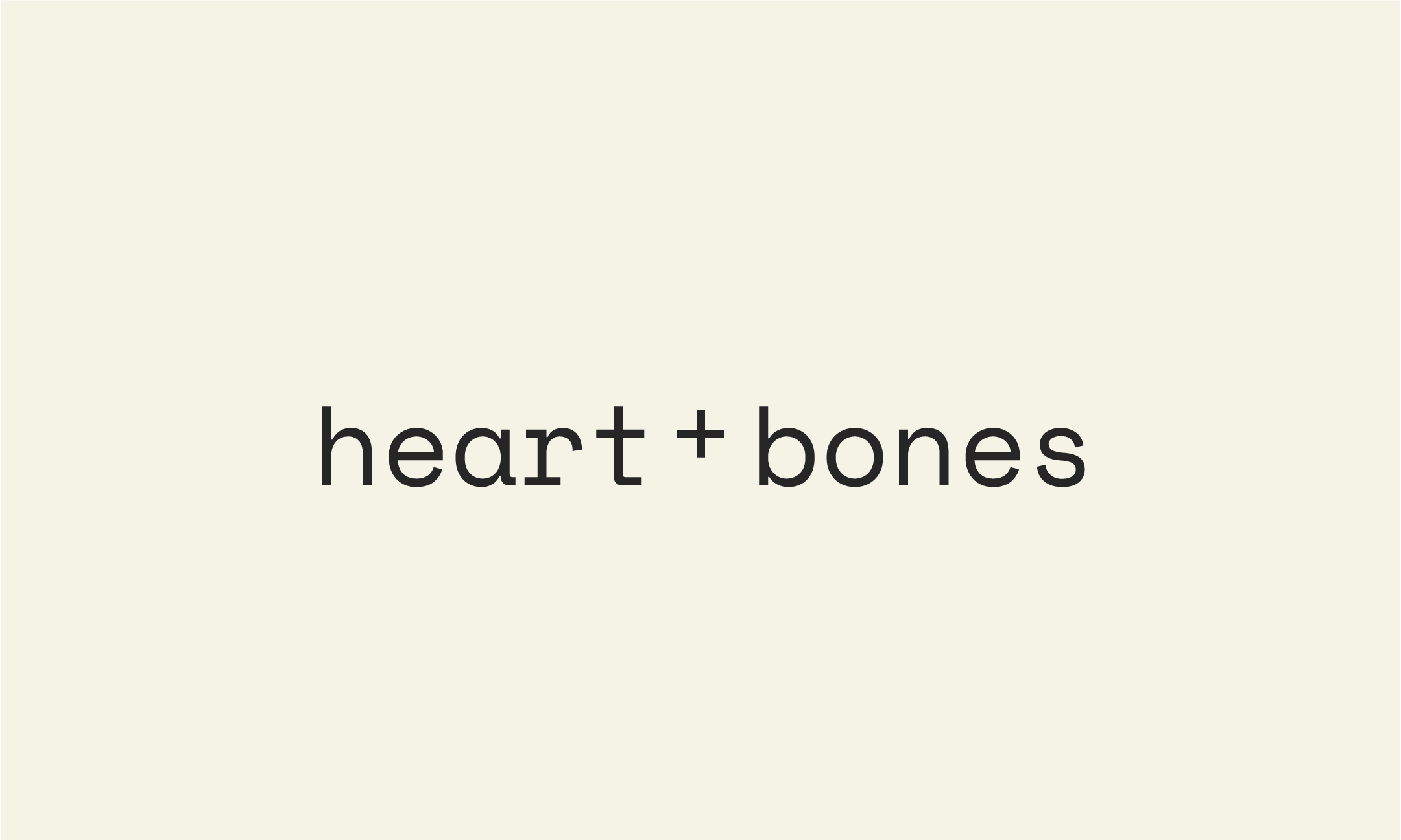 HEART+BONES PRIMARY WORDMARK