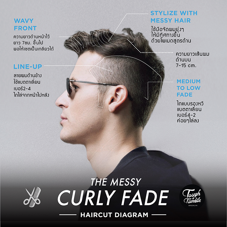 MESSY CURLY FADE