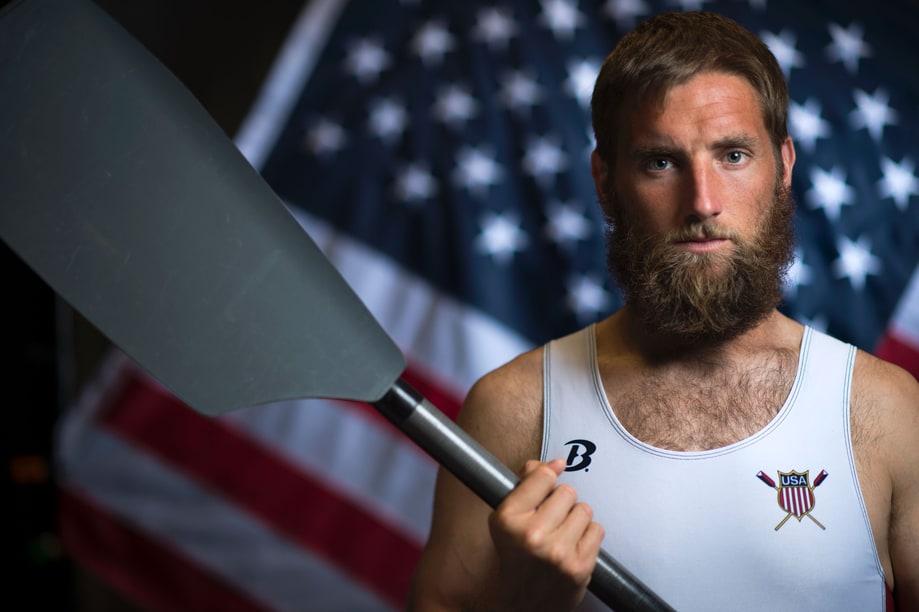 เซธ วีล นักกีฬาพายเรือทีมอเมริกา ก็มาในมาดโคตรแนว หนวดเฟริ้มแบบLumberjack มาดเกรงขามน่าดู