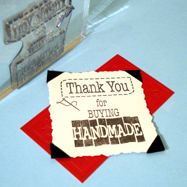 Thank You for Buying Handmade Stamp