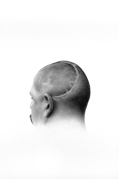 Patrick Lee, Deadly Friends (Scar), 2009, graphite on paper, 36 x 24 inches