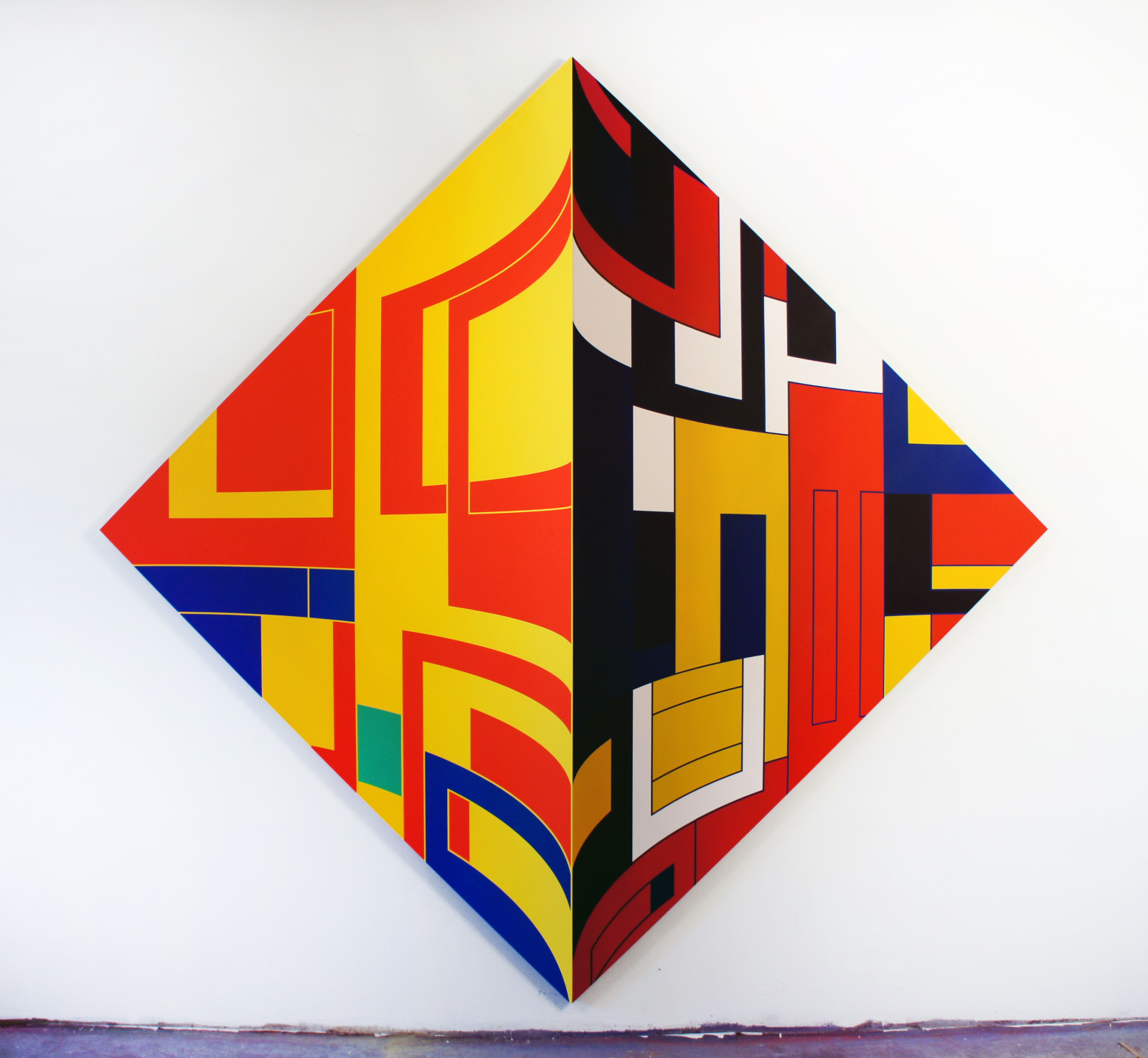 Thomas Burke, Dutch Jailbreak, 2014, acrylic on panel, 102 x 102 inches