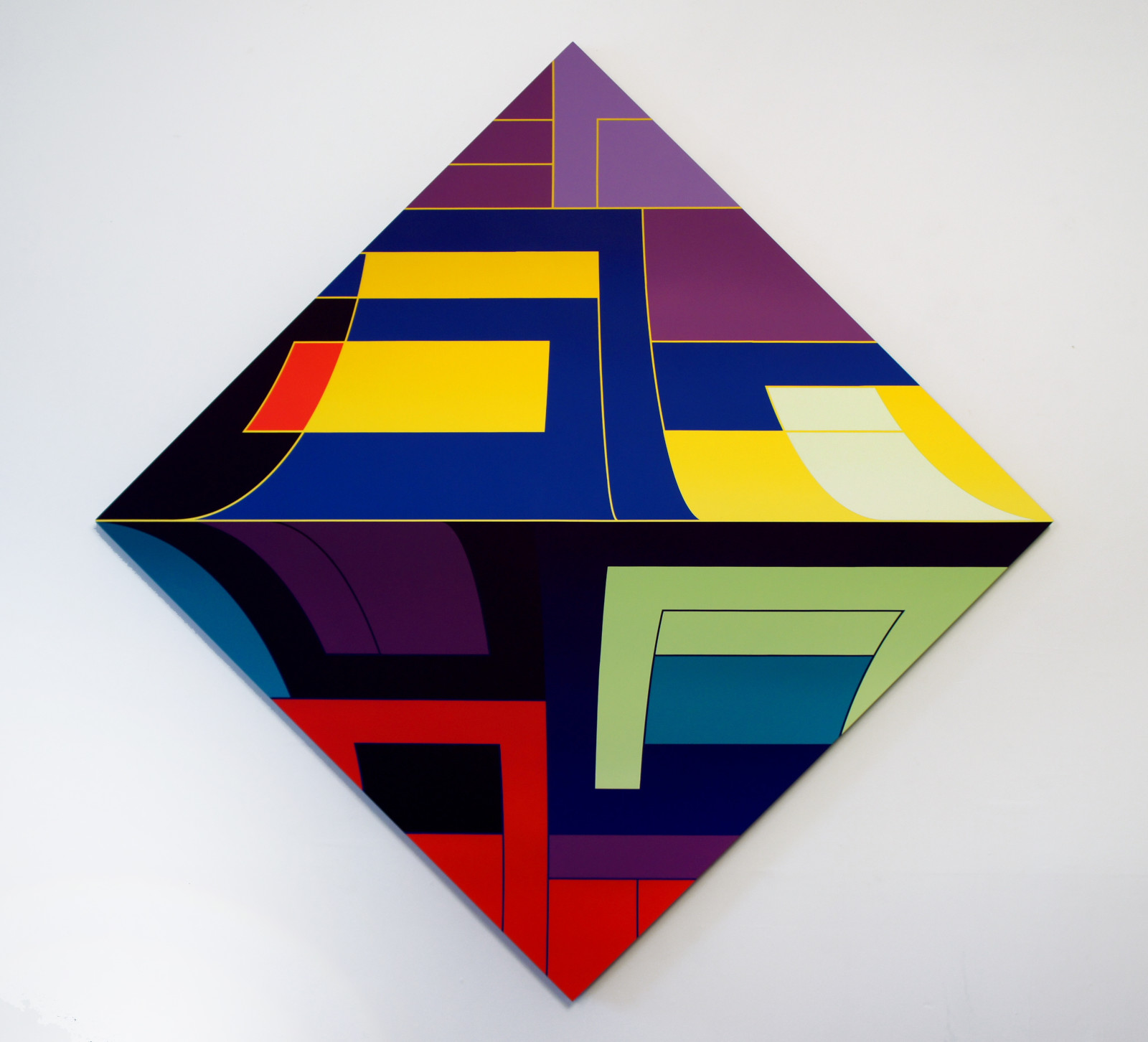 Thomas Burke, Bliss, 2015, acrylic on panel, 68 x 68 inches; installed at Western Project