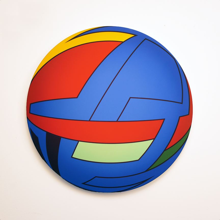 Thomas Burke, Untitled, 2013, acrylic on canvas, 20.5 inches diameter