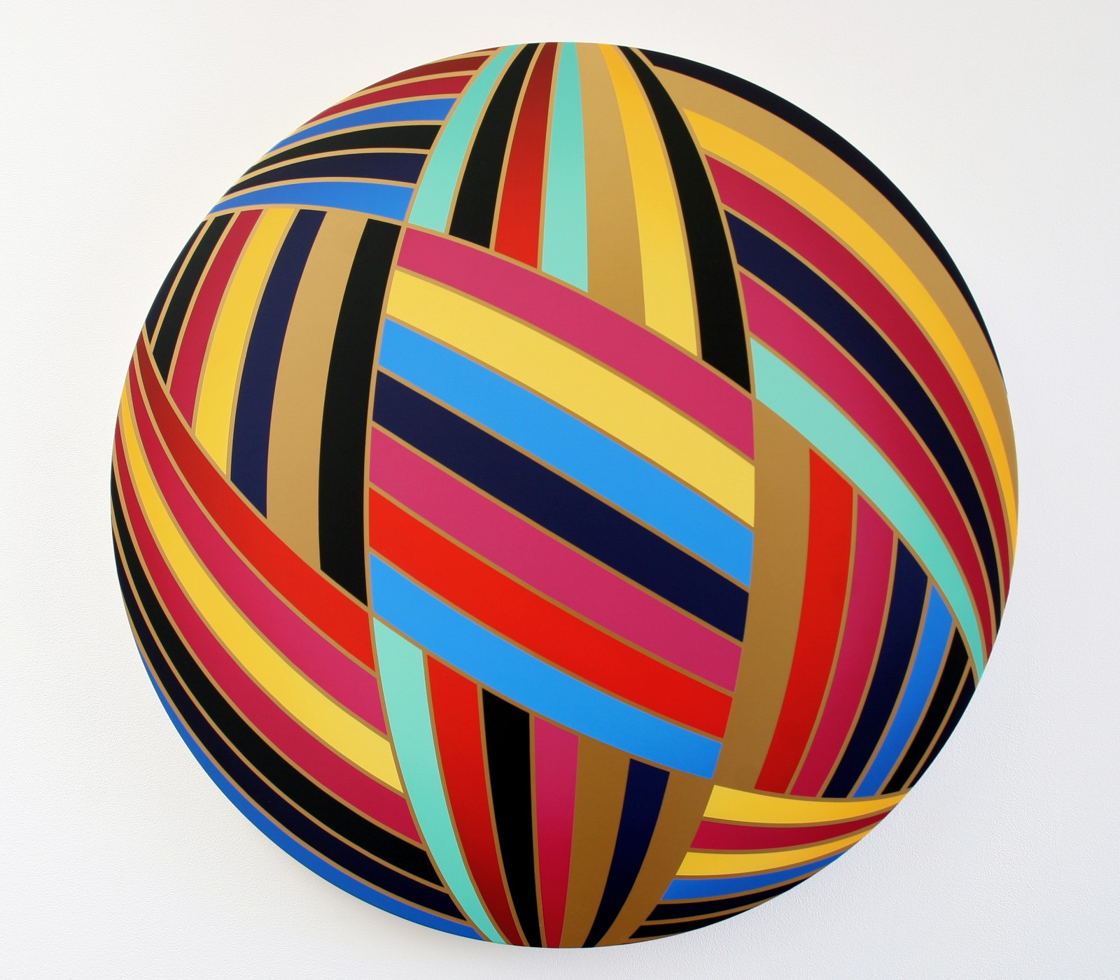 Thomas Burke, Romeo, 2012, acrylic on canvas, 33 inches diameter