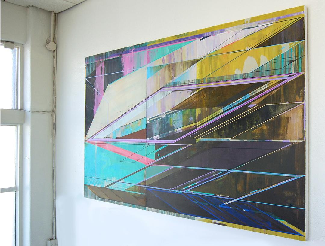 JOE LLOYD, Inverse, 2015, acrylic on canvas, 60 x 100 inches