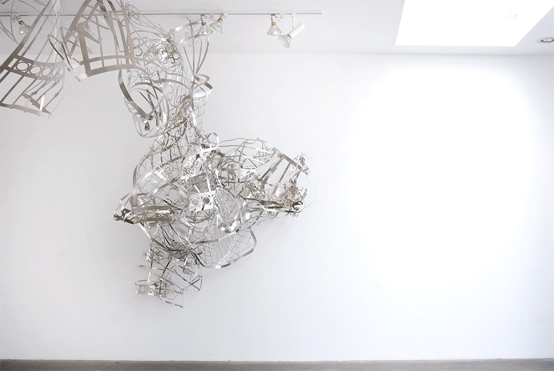 MARGARET GRIFFITH, Spout, 2014, Waterjet cut aluminum, dimensions variable