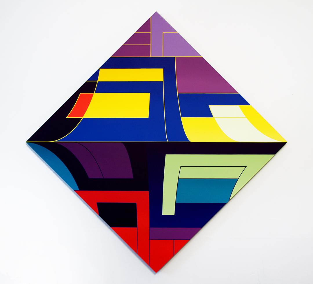THOMAS BURKE, Bliss, 2015, acrylic on panel, 68 x 68 inches