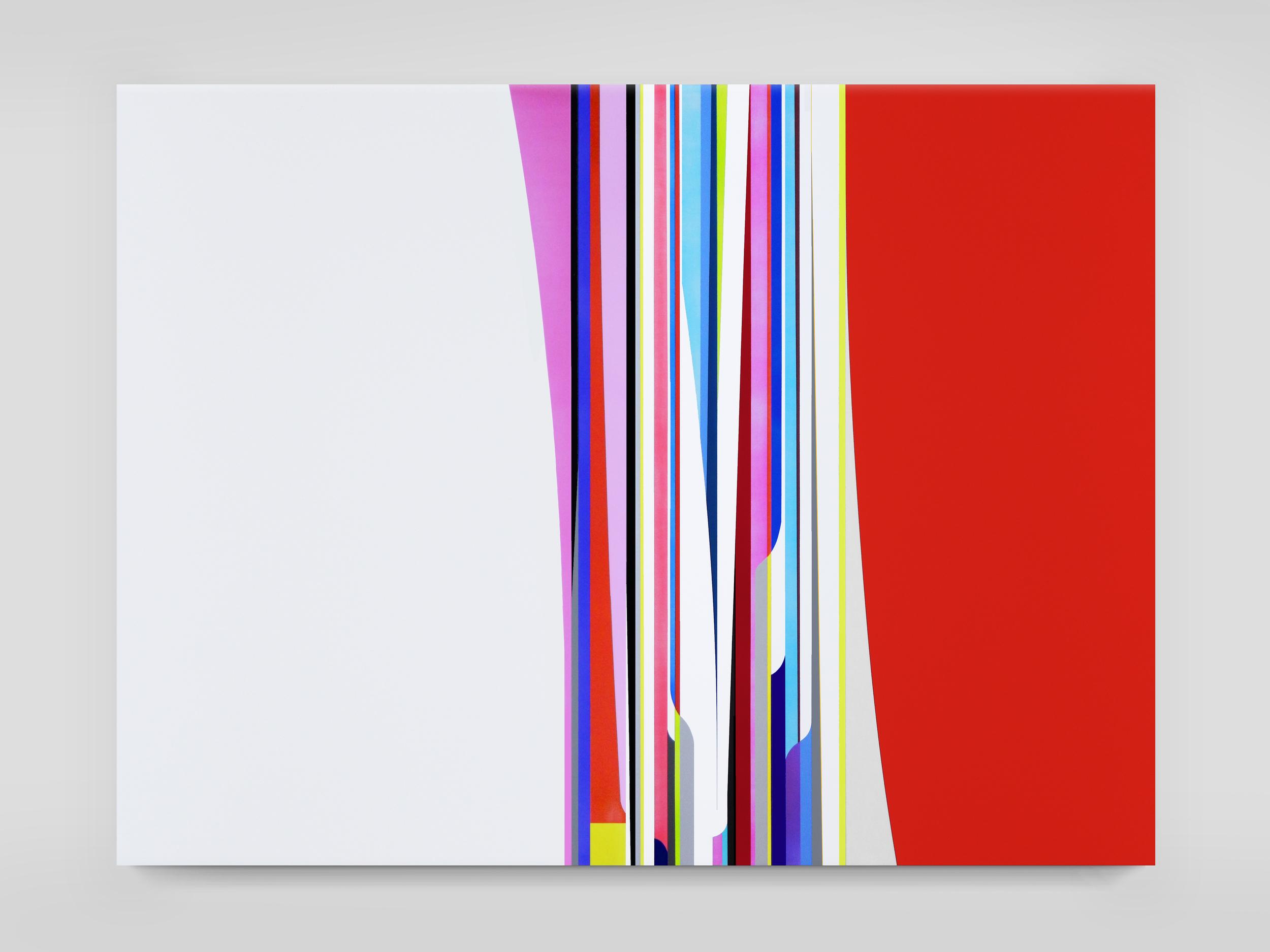 DION JOHNSON, Race Car, 2015, acrylic on canvas, 60 x 80 inches