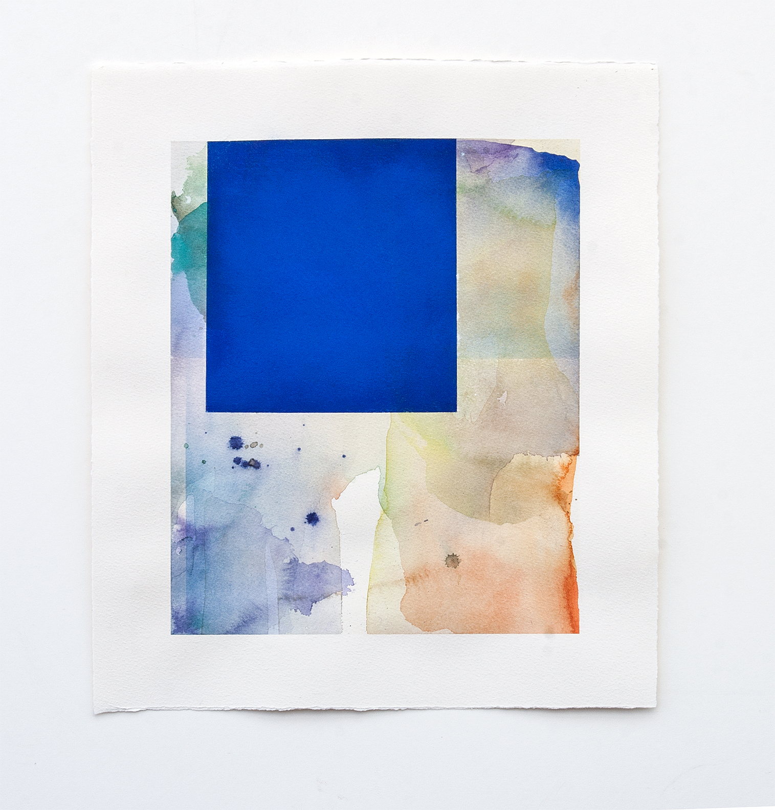 DANIEL BRICE, Untitled, 2015, pastel, watercolor on paper, 17 x 15 inches
