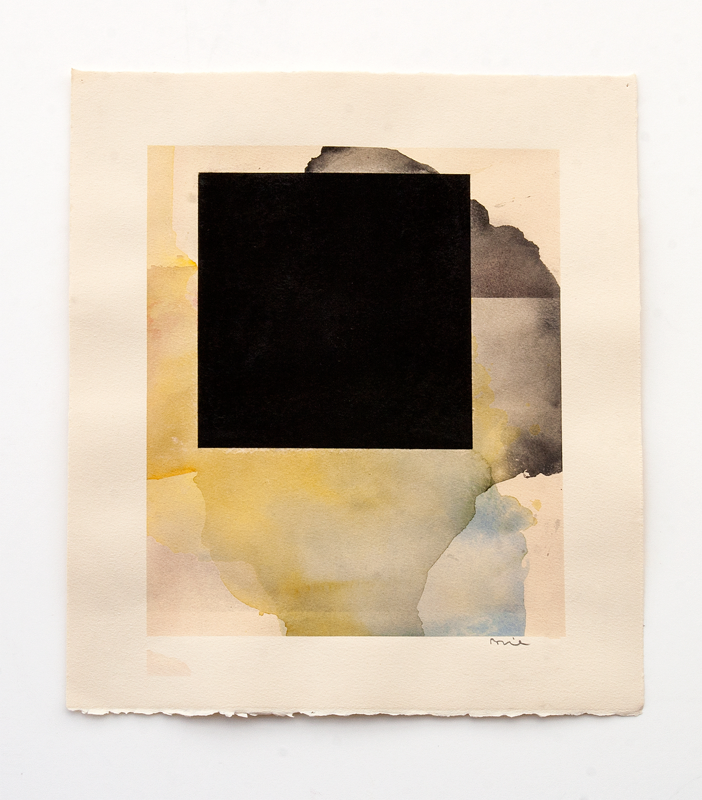 DANIEL BRICE, Untitled, 2015, charcoal, watercolor on paper, 17 x 15 inches