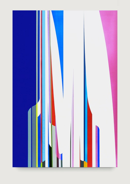 DION JOHNSON, Cathedral, 2014, acrylic on canvas, 60 x 40 inches