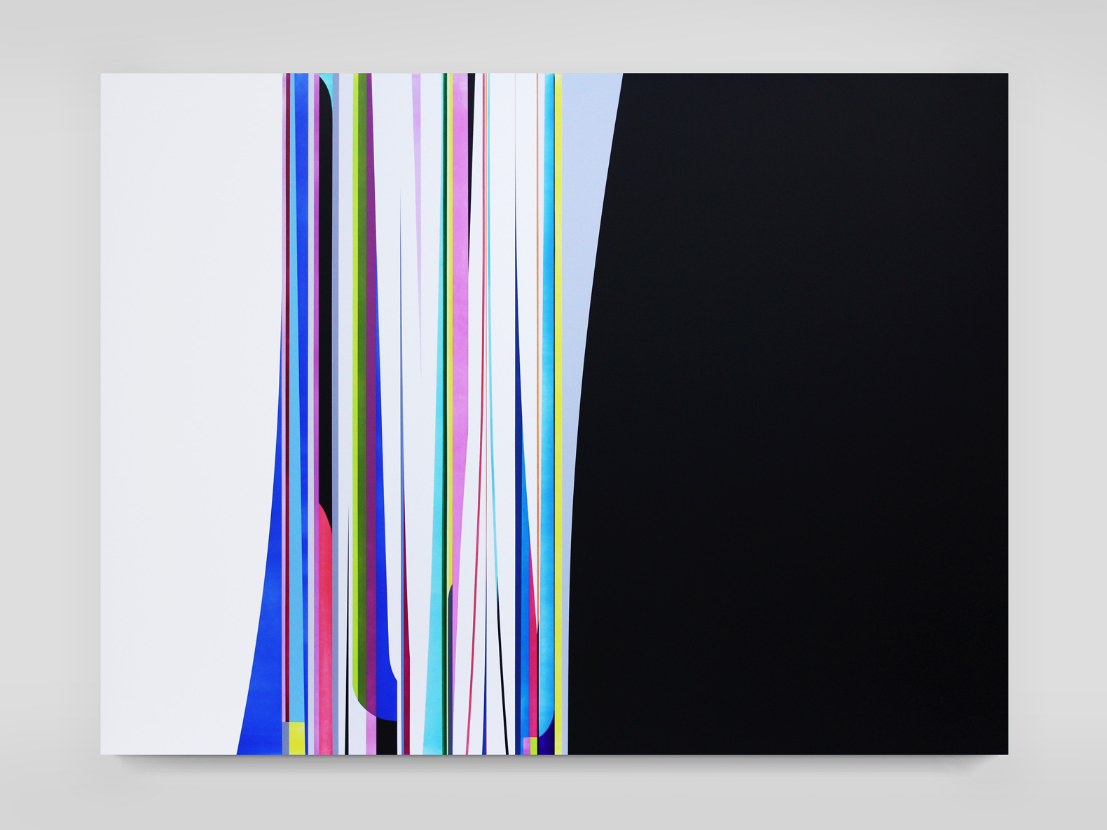 DION JOHNSON, Turnstile, 2015, acrylic on canvas, 60 x 80 inches