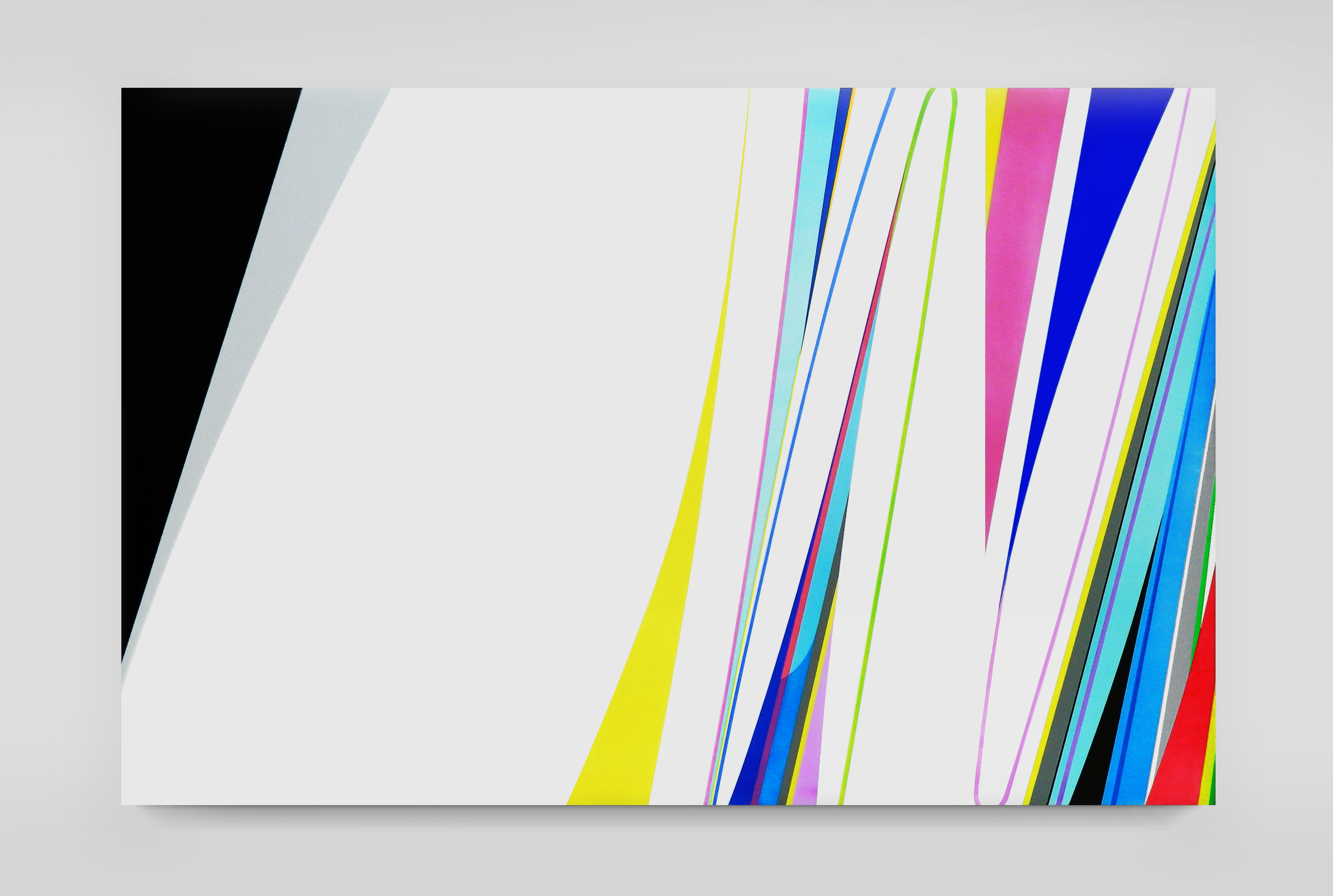 DION JOHNSON, Vibration, 2015, acrylic on canvas, 40 x 60 inches