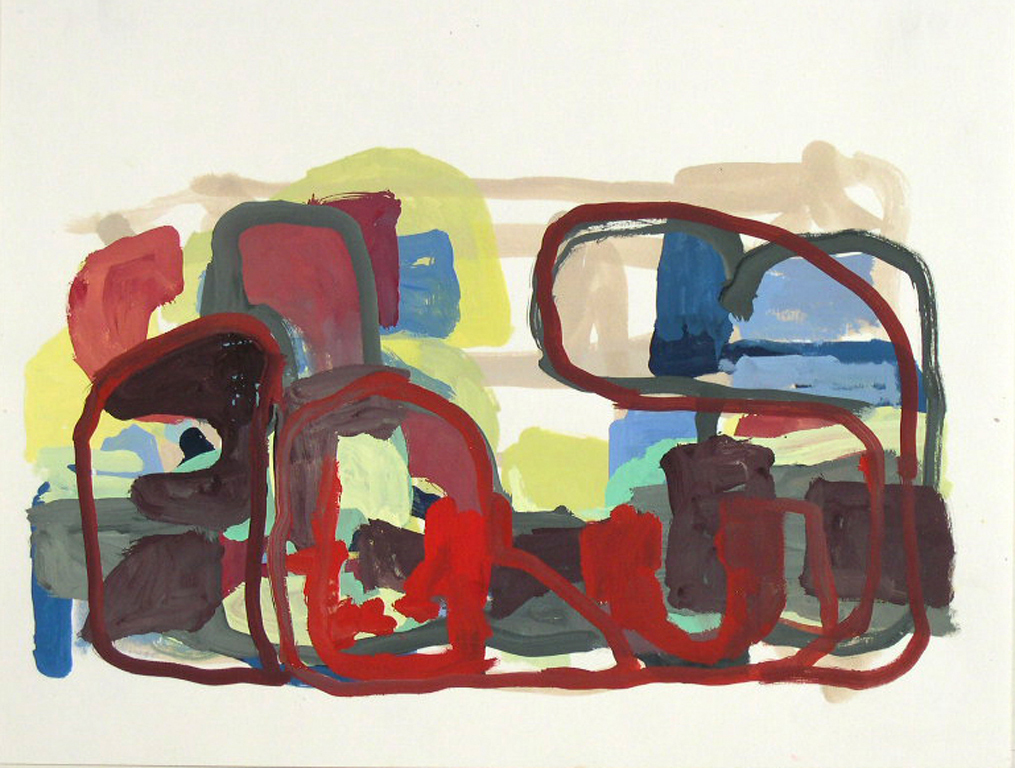 TIM FORCUM, Divisions of Our Reality, 2005, gouache on paper, 16.5 x 22 inches