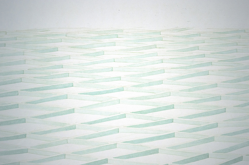 MARGARET GRIFITH, Green Sway (DETAIL), 2012, ink on paper, 60 x 72 inches