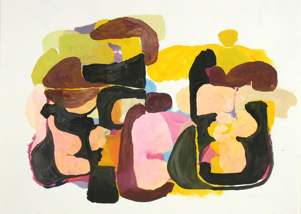 Tim Forcum, Just Over the Hill of Happiness, 2005, gouache on paper, 17 x 24 inches
