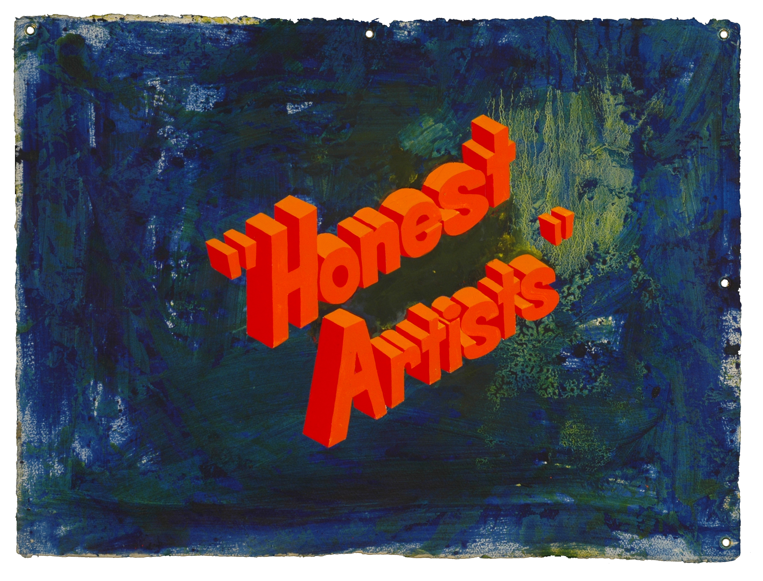 WAYNE WHITE, Honest Artists, 2007, acrylic on paper, 22.5 x 30 inches