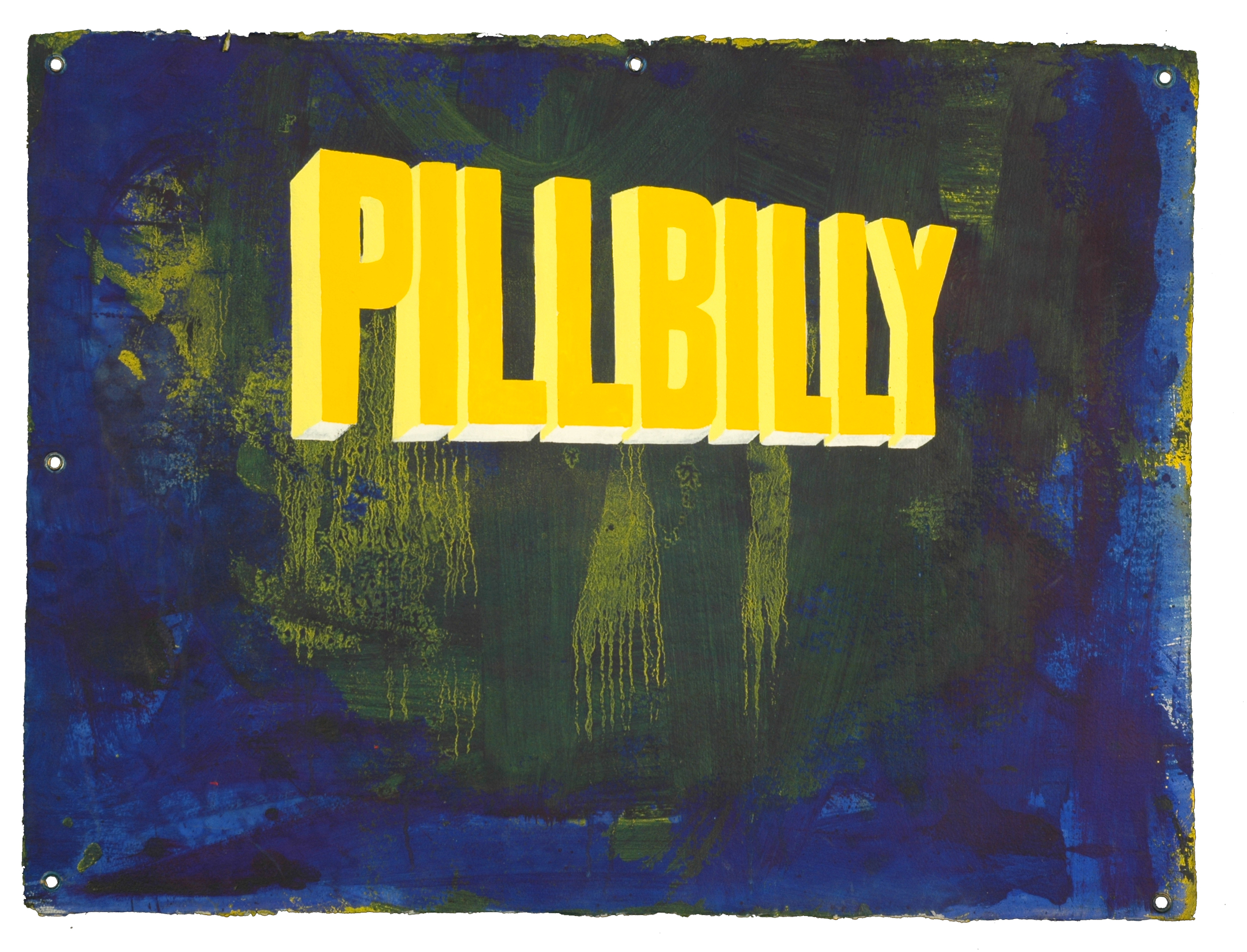 WAYNE WHITE, PILLBILLY, 2007, acrylic on paper, 22.5 x 30 inches