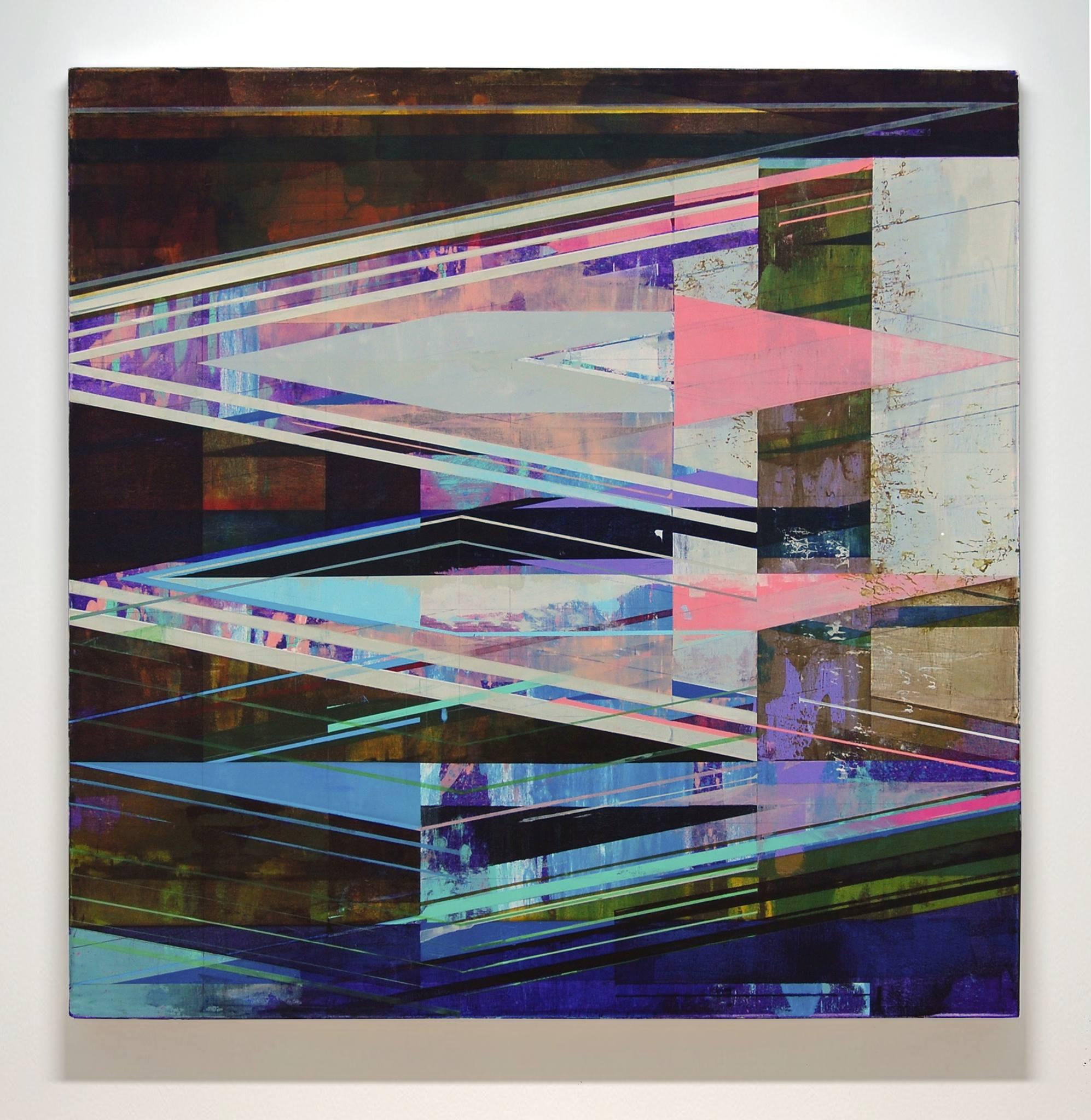JOE LLOYD, Bevel, 2015, acrylic on canvas, 42 x 42 inches
