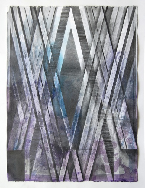 JOE LLOYD, Graphite Drawing 5, 2015, graphite, ink, acrylic, on paper, 26.5 X 20 inches