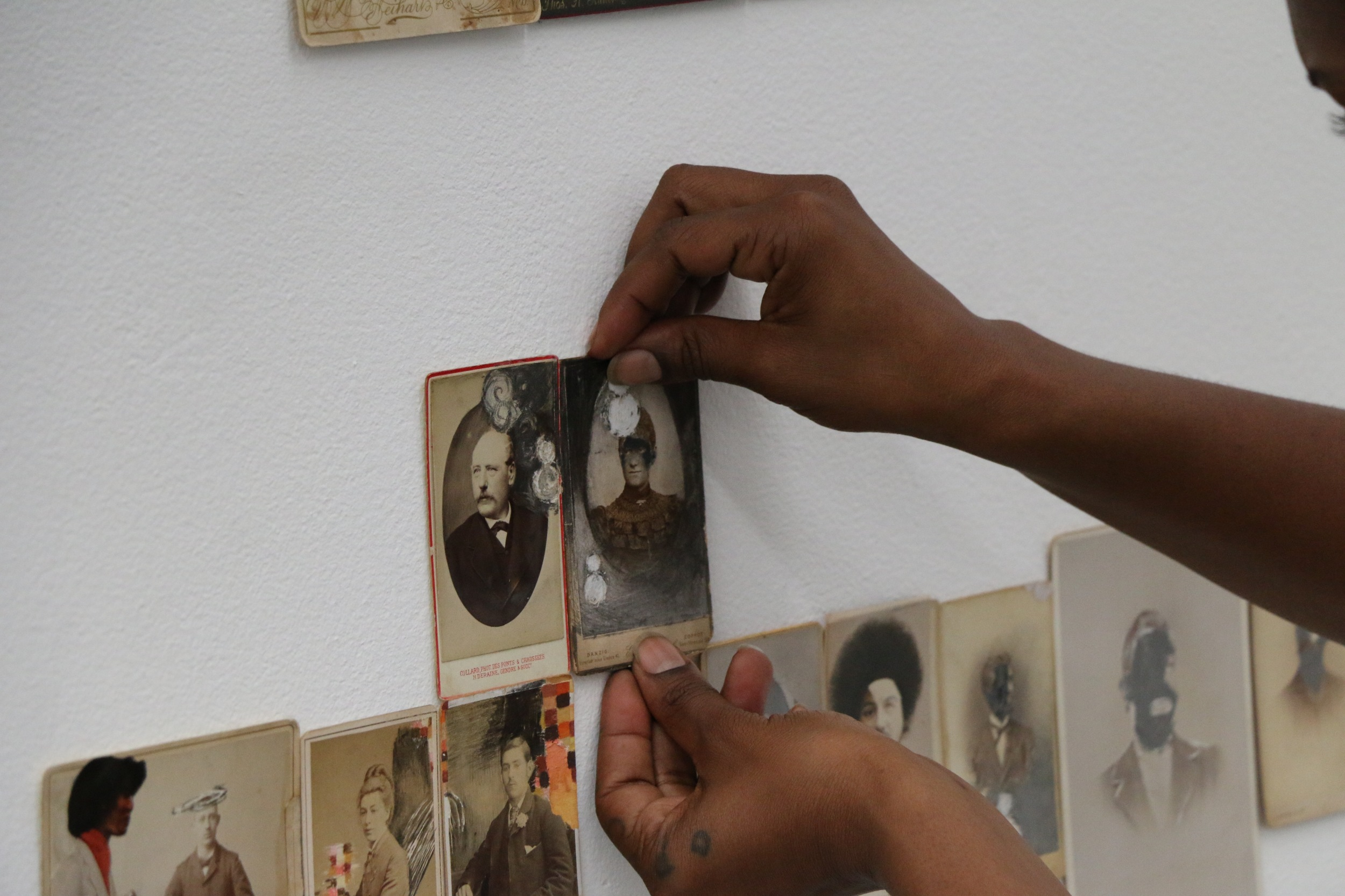 JESSICA WIMBLEY, 2015 Cabinet Cards, mixed media, dimensions variable