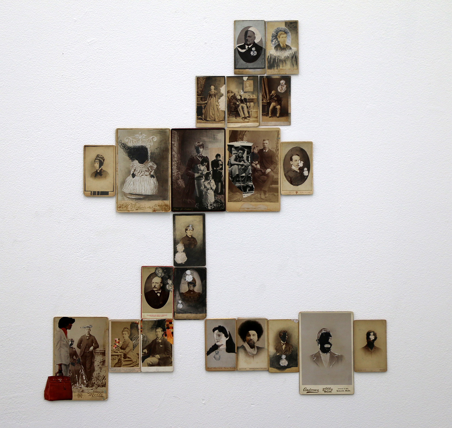 JESSICA WIMBLEY, Cabinet Cards, 2015, mixed media, dimensions variable