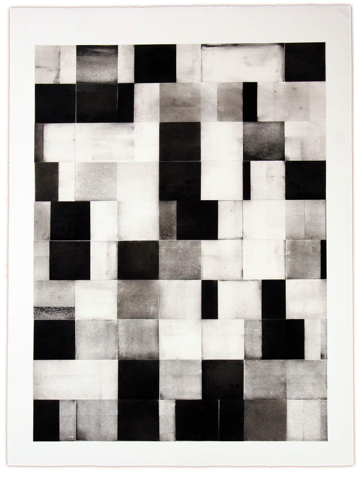 DANIEL BRICE, Untitled, 2015, charcoal on paper, 40 x 30 inches
