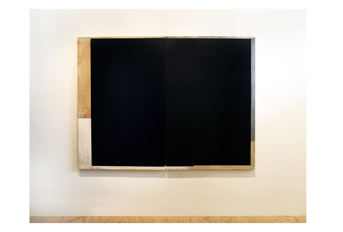 Daniel Brice, OX 20, 2011, oil on burlap over panel, 60 x 80 inches