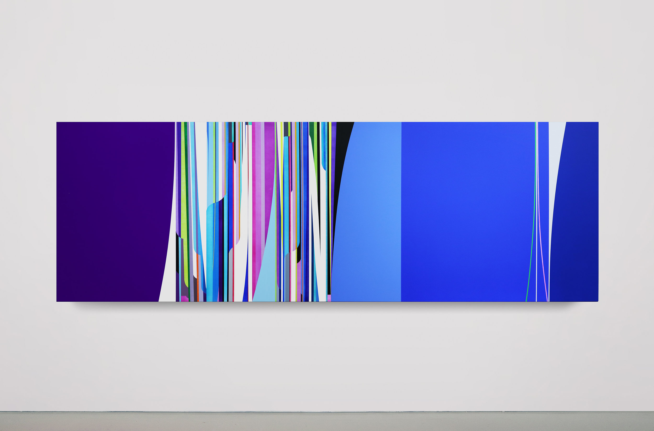Dion Johnson, Perfect Day, 2016, acrylic on canvas, 40 x 120 inches
