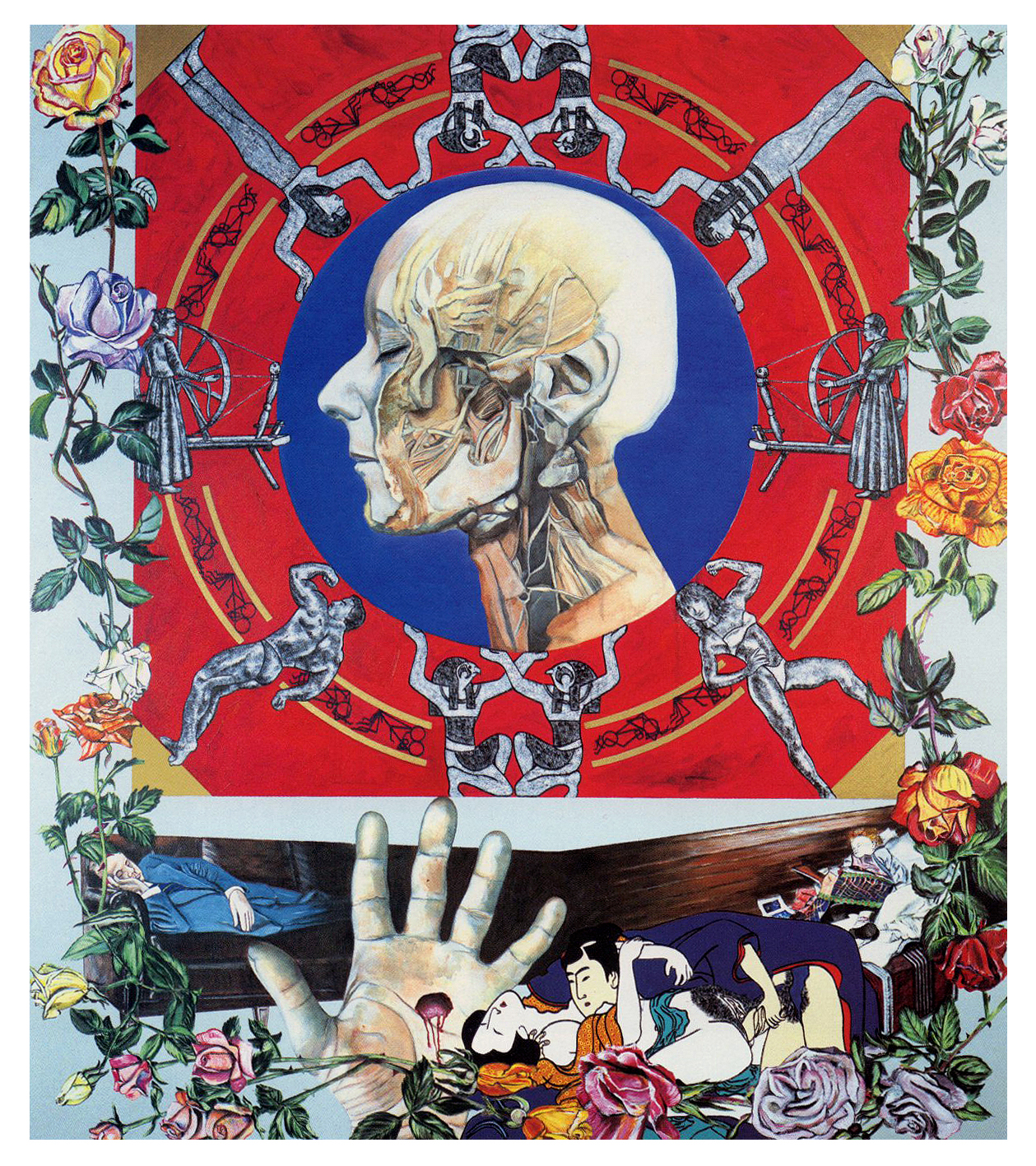 Carole Caroompas Fairy Tales: Briar Rose (Sleeping Beauty), 1989, acrylic on canvas, 96 x 84 inches