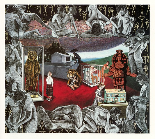 Carole Caroompas, Fairy Tales: Beauty and the Beast, 1989, acrylic on canvas, 84 x 96 inches
