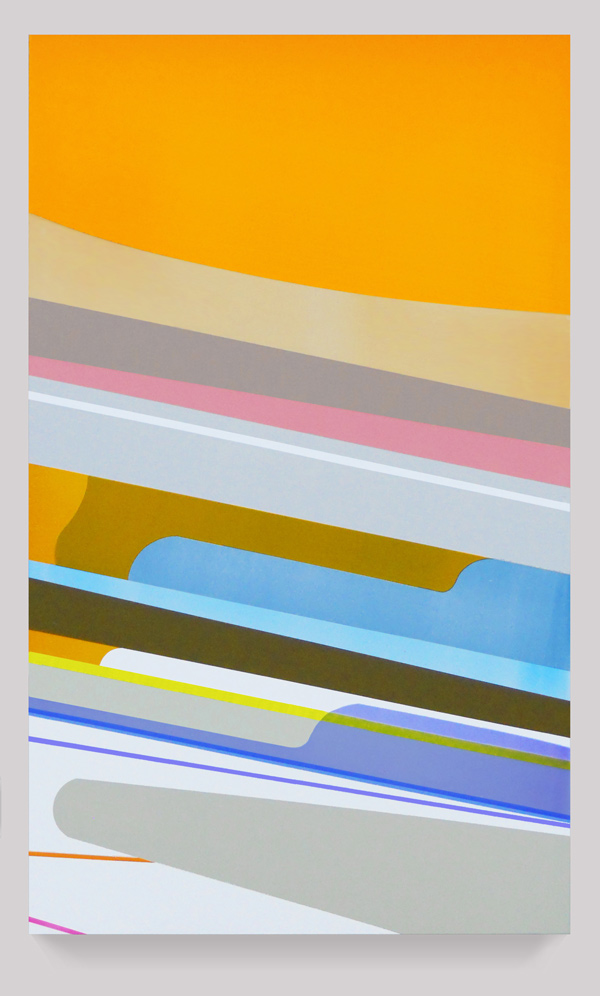 Dion Johnson, Slide, 2010, acrylic on canvas, 39.5 x 24 inches
