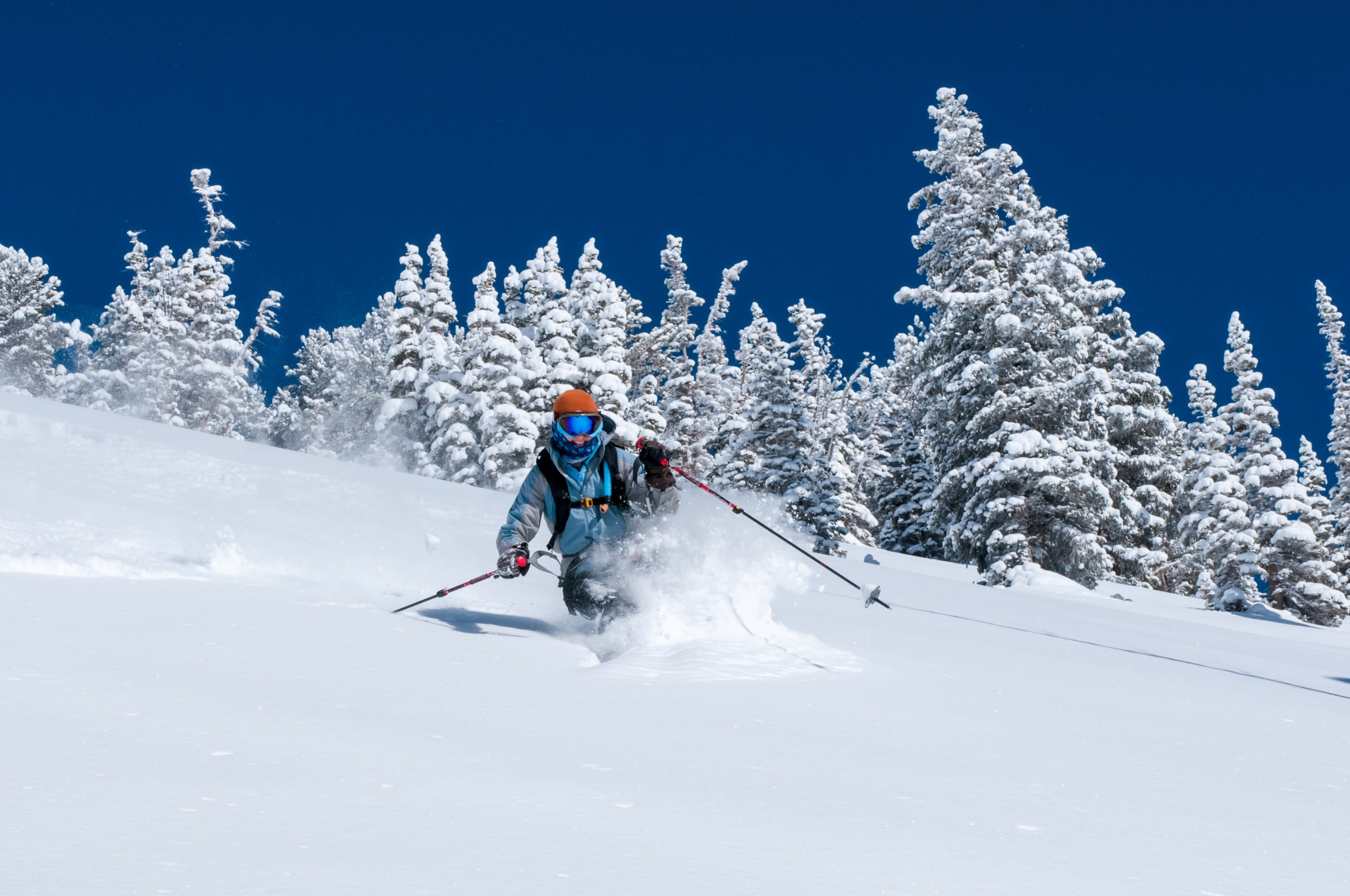 World class skiing during a Canada adventure tour in the winter.